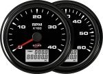 ECMS ALL BLACK TACH/HOURMETER - Hitrost - Delovne ure
