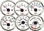 ECMS WHITE CHROME GAUGES - Nivo olja 0-10bar