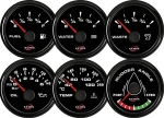 ECMS ALL BLACK GAUGES - Ampermeter