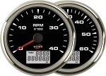 ECMS BLACK CHROME TACH/HOURMETER