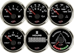ECMS BLACK CHROME GAUGES - Voltmeter