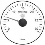 MERILEC OBRATOV MOTORJA 6000 RPM BEL