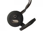 Wall Mount USB/Jack 3,5 Socket